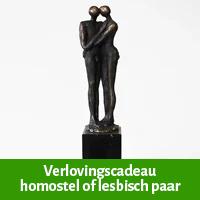 verlovingscadeau homostel, huwelijkscadeau lesbisch paar