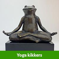 Yoga kikker beelden