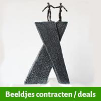 beeldjes contracten, beeldje afsluiten contract