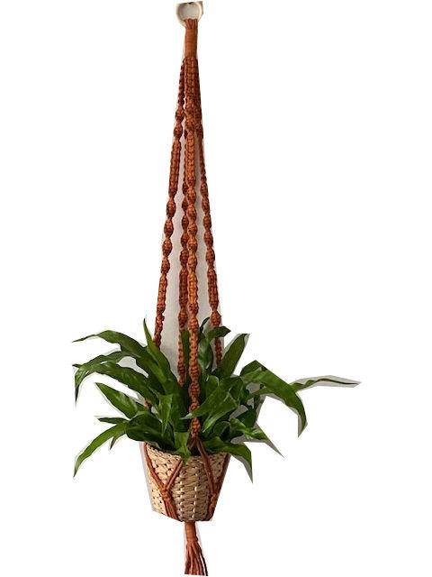 Macrame plantenhanger Koper