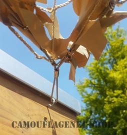 Schaduwdoek / Camonet  Desert 6 X 3 meter