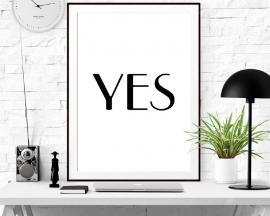 Poster met tekst YES
