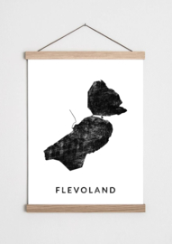 Poster plattegrond Flevoland