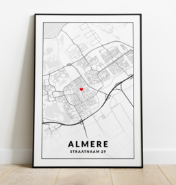 Gepersonaliseerde poster Almere