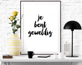 Poster met tekst Je bent geweldig