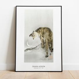 Japanse kunstposter tijger