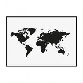 Wereldkaart poster