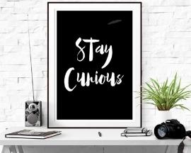 Inspiratie poster met tekst Stay Curious