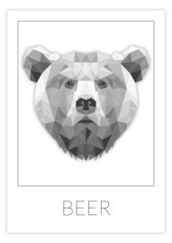 Kinderkamer poster geometrische beer