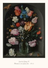 Jacob de Gheyn II  - Bloemen in een glazen fles