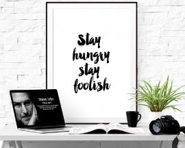 Inspiratie poster met quote Steve Jobs