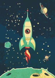 Stoere poster met een astronaut