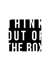 Inspiratie poster met tekst Think out of the box