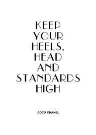 Poster met quote van Coco Chanel