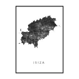 IBIZA poster zwart vintage