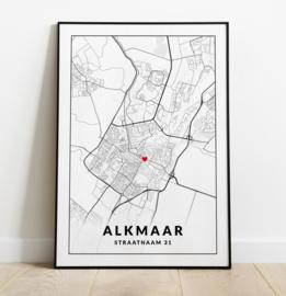 Gepersonaliseerde poster Alkmaar