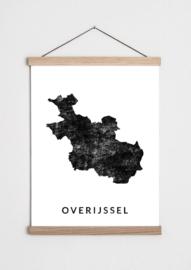 Poster plattegrond Overijssel