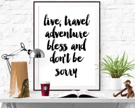 Inspiratie poster Live, travel, adventure