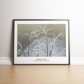 Japanse kunstposter Vorst planten