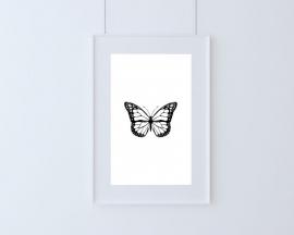 Poster met vlinder