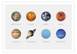 Poster met alle planeten