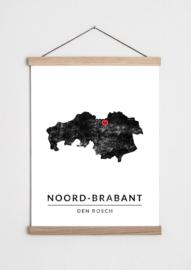 Poster plattegrond Noord-Brabant