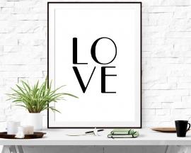 Poster met tekst LOVE