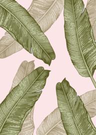 Poster Bananenbladeren
