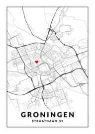 Gepersonaliseerde poster Groningen