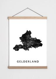 Poster plattegrond Gelderland