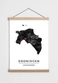 Poster plattegrond Groningen