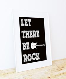 Stoere poster met gitaar en tekst