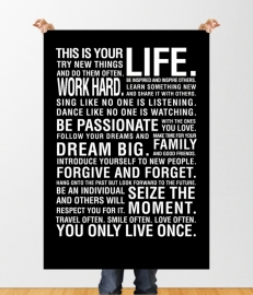 Poster quote this is your life