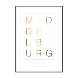 Typografische woonplaats poster