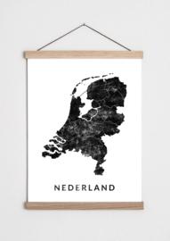 Poster Nederland kaart