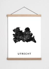 Poster plattegrond Utrecht