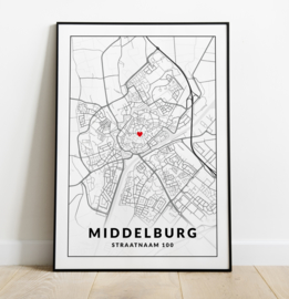 Gepersonaliseerde poster Middelburg
