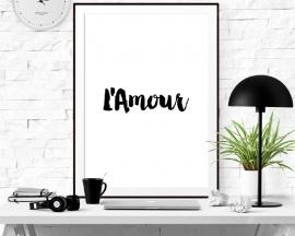 Inspiratie poster tekst L'Amour
