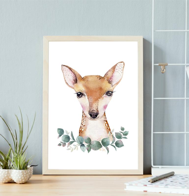 Poster met hert