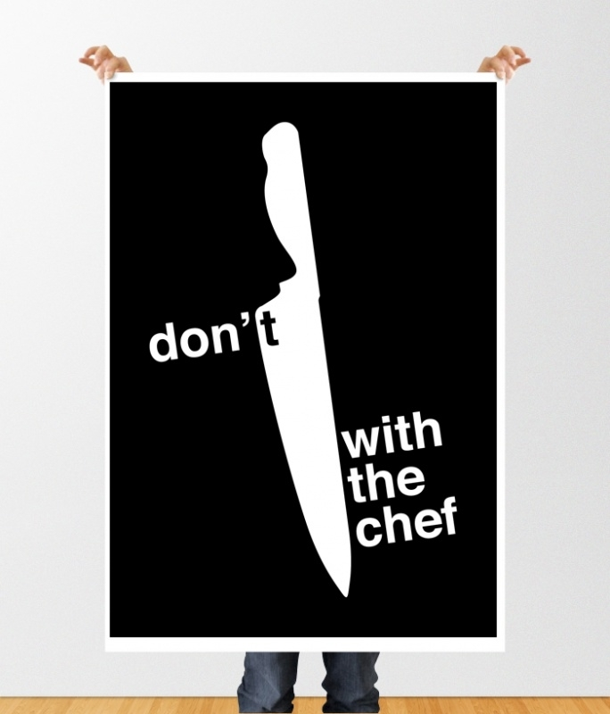 Keuken poster don't mess with the chef