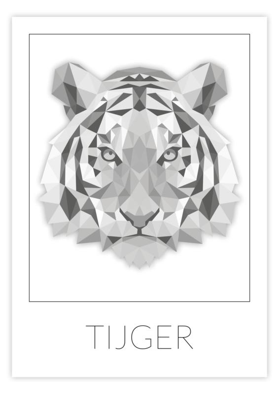 Kinderkamer poster geometrische tijger