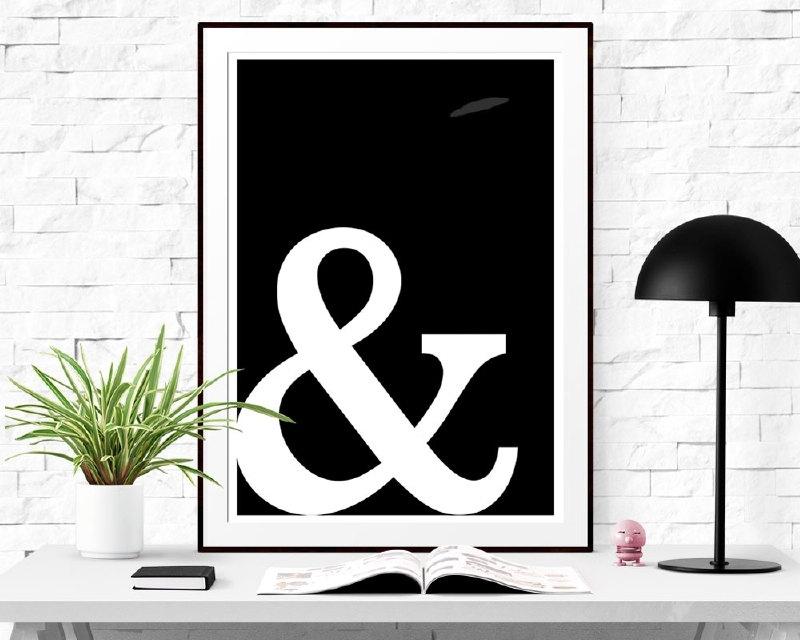 Poster met Ampersand