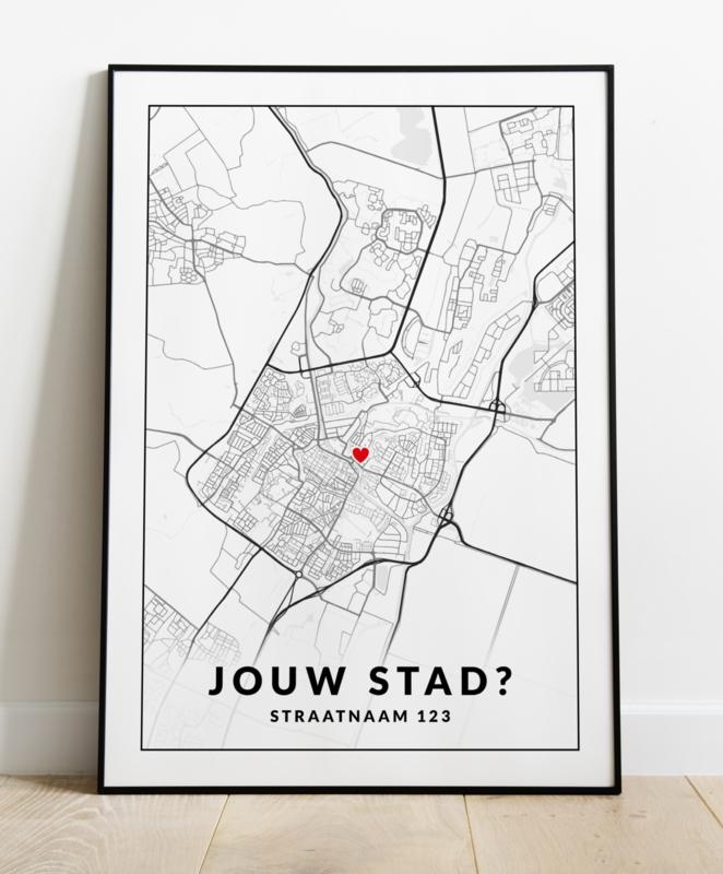 Jouw stad of dorp op een poster