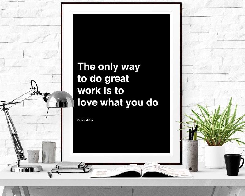 Citaat poster Steve Jobs