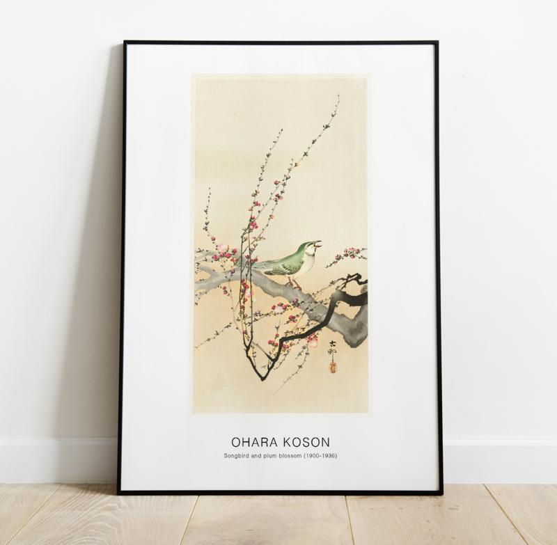 Songbird and plum blossom