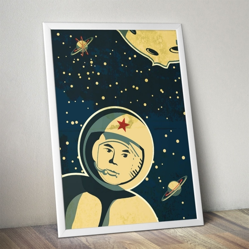Stoere ruimtevaarder poster