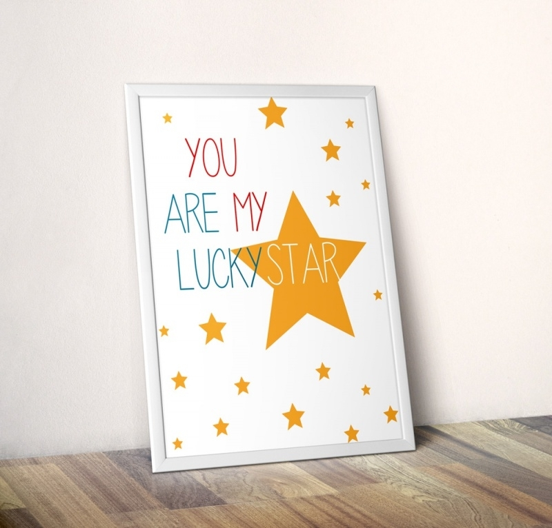 Poster kinderkamer You are my lucky star