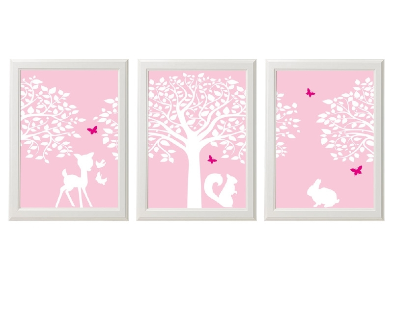 Kinderkamer poster set bosdieren