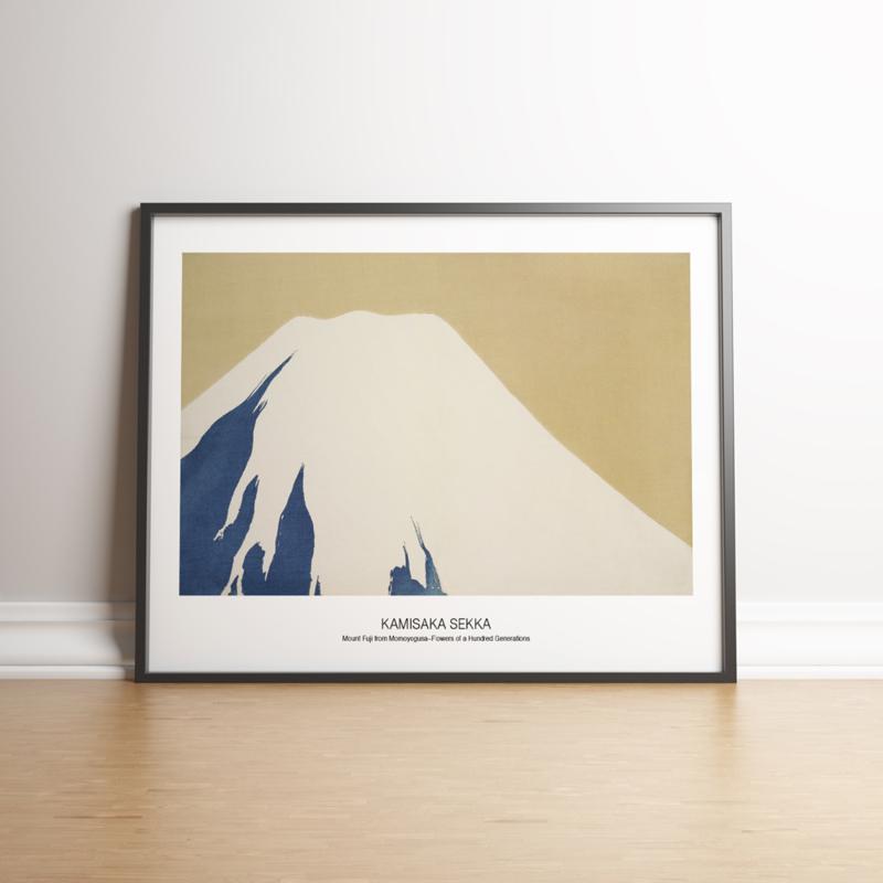 Japanse kunstposter Berg Fuji