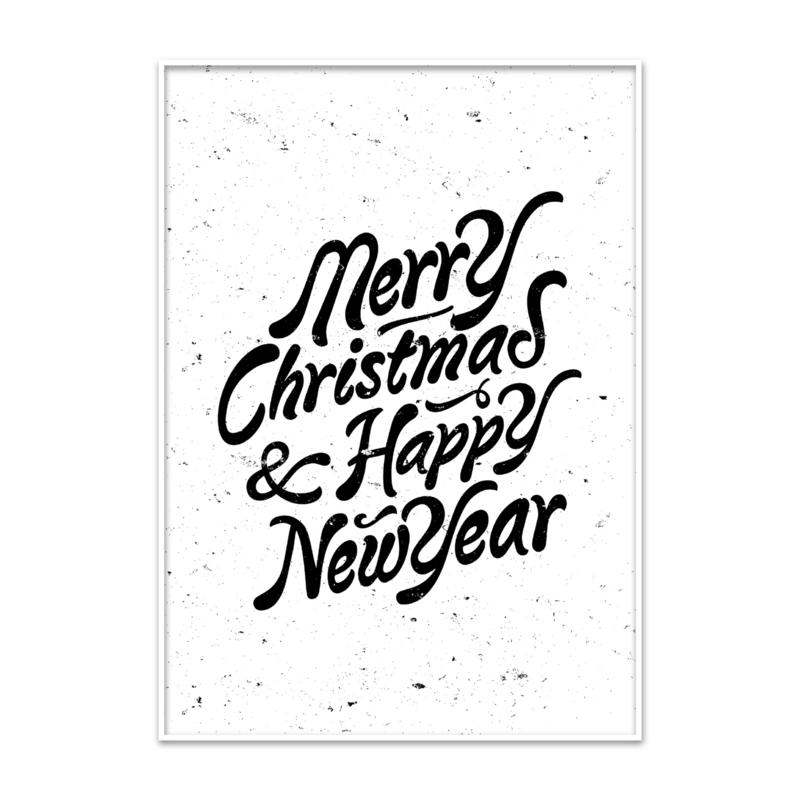 Kerstposter tekst Merry Christmas
